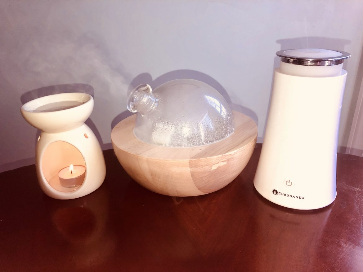 essential oil burner vs. diffuser